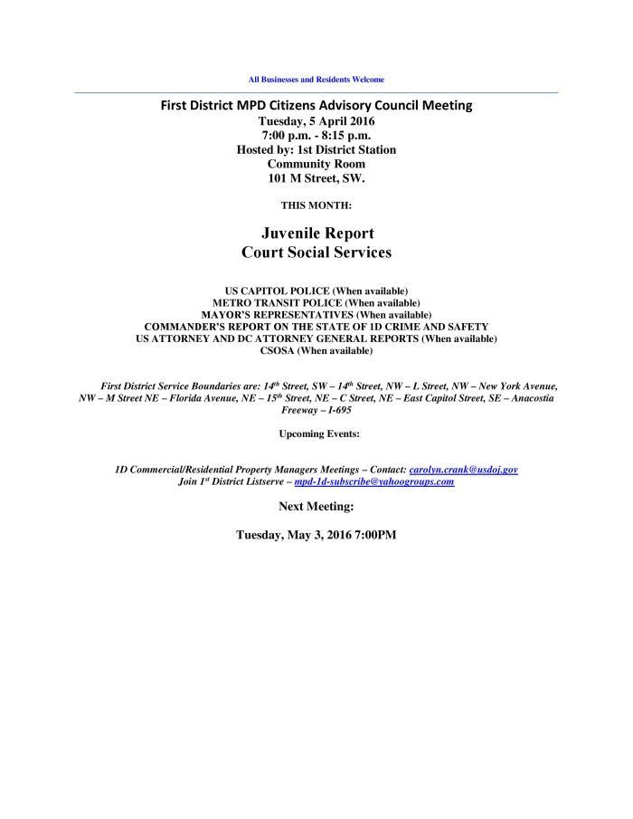 April CAC Meeting Flyer 040116