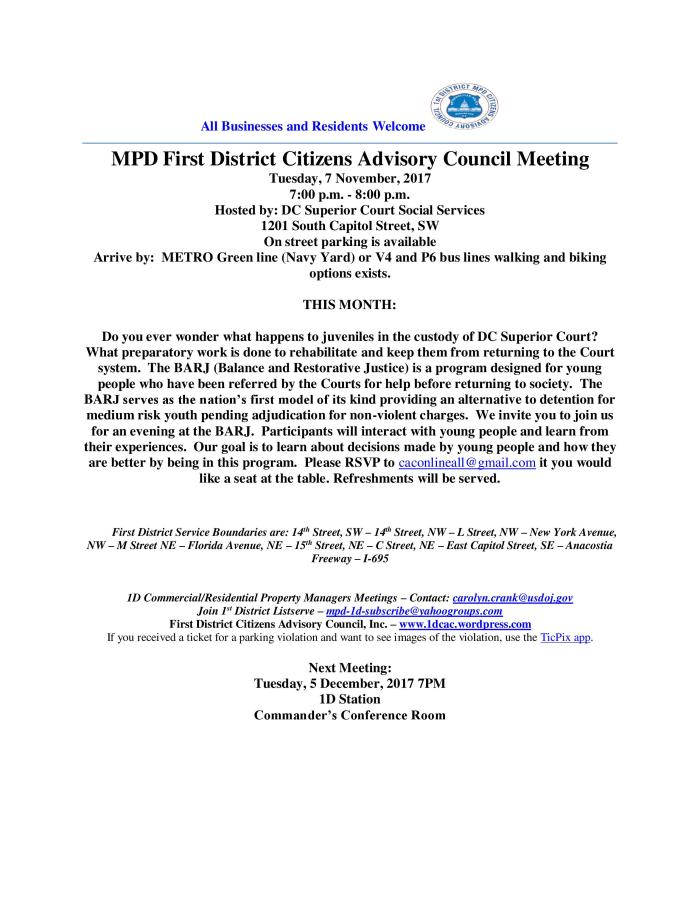 CAC Meeting Flyer 110717