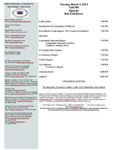 March Agenda 030414