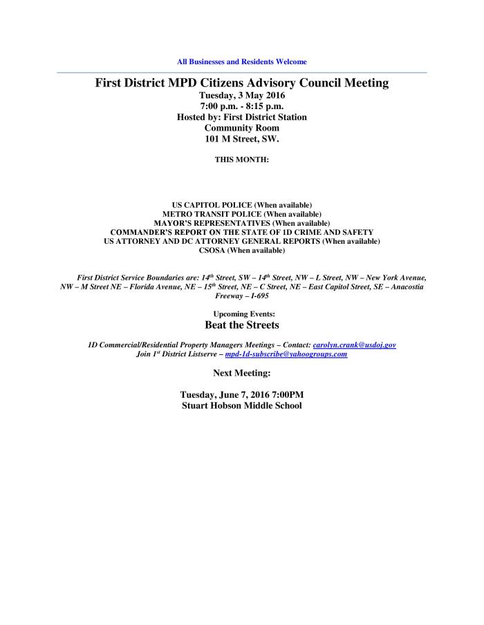 May CAC Meeting Flyer 050316