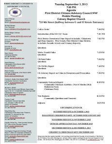 September Agenda 090313