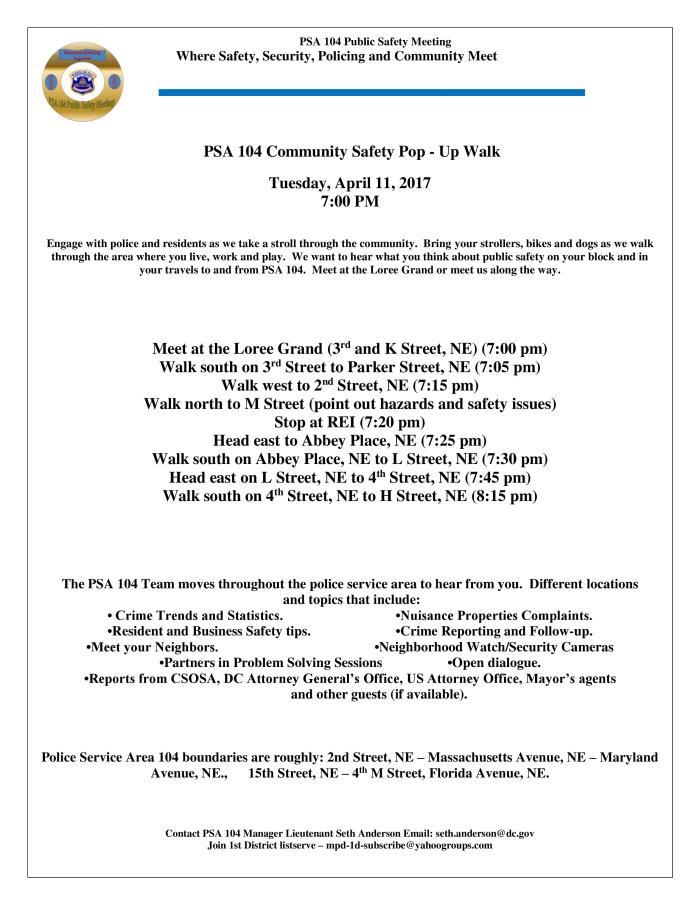 Introducing PSA 104 Community Safety Walk Web 041117