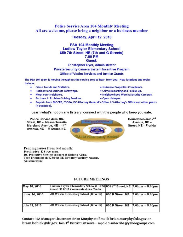 PSA 104 Flyer April 2016