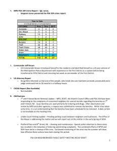 PSA 104 NEIGHBORHOOD PUBLIC SAFETY MEETING RECAP_2