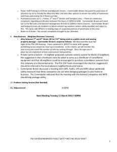 PSA 104 NEIGHBORHOOD PUBLIC SAFETY MEETING RECAP_3
