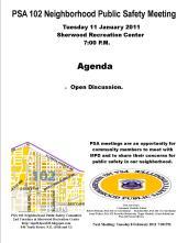 PSA 11 January 2011 Flyer