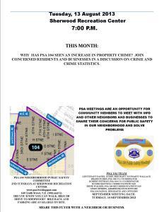 PSA Flyer 13 August 2013