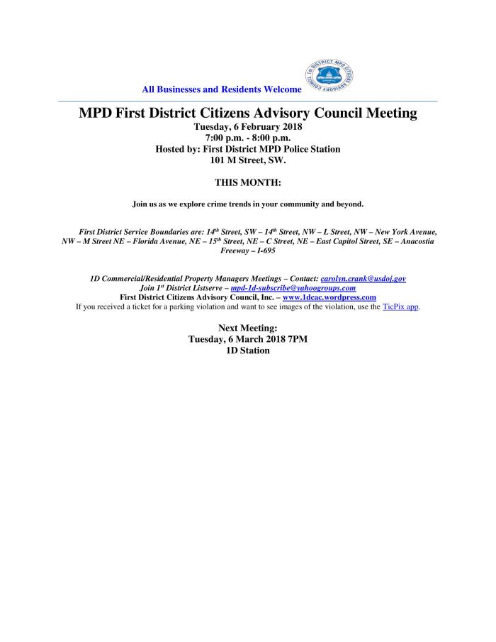 CAC Meeting Flyer 020618